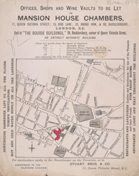 Advert for Offices to Let in Mansion House Chambers